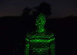 Tobias Zienoly, Laser fromThe Street Rome series, 2014, Courtesy the artist and Galleria Lia Rumma