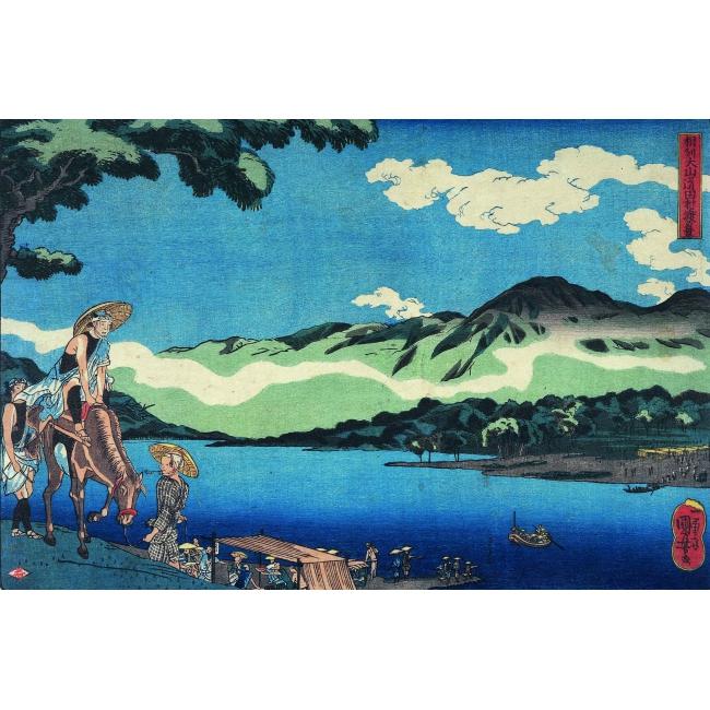 Utagawa Kuniyoshi, L'imbarcazione a Tamura sulla strada d'Oyama nella provincia di Sagami, verso 1842 - Courtesy of Gallery Benyia