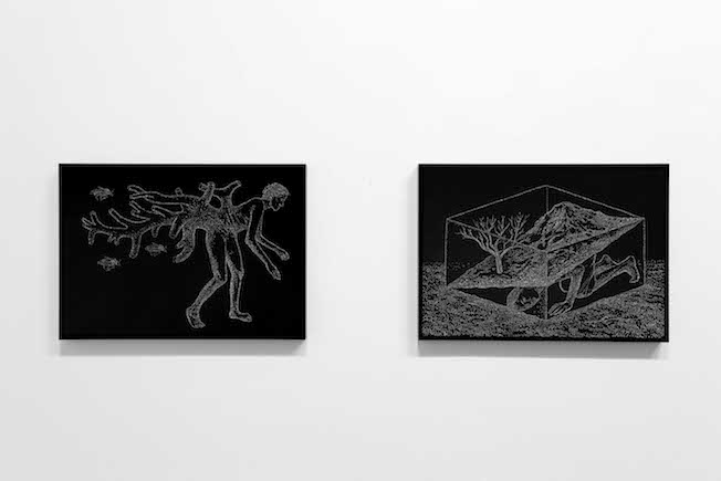 Amparo Sard – Cutting the Space – veduta della mostra presso la Galleria Paola Verrengia, Salerno 2015 – photo Ciro Fundarò