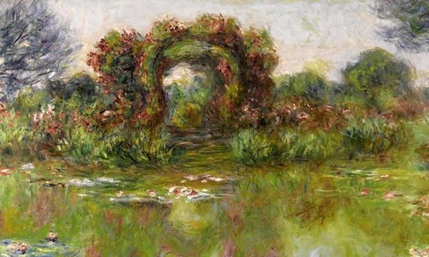 Claude Monet, Bassin aux nymphéas, les rosiers, 1913