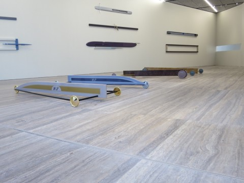 Gianni Piacentino – veduta della mostra presso la Fondazione Prada, Milano 2015