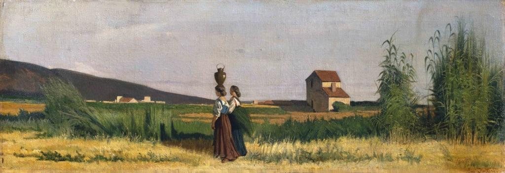 Giovanni Fattori, Acquaiole livornesi, 1865 - Livorno, Collezione privata