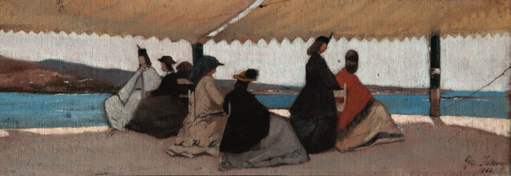 Giovanni Fattori, La Rotonda di Palmieri a Livorno, 1866 – Firenze, Galleria d'arte moderna di Palazzo Pitti