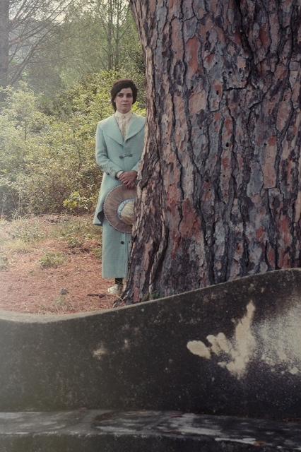 Il meridiano della solitudine, foto di una scena del film a Villa Piccolo, Capo d'Orlando