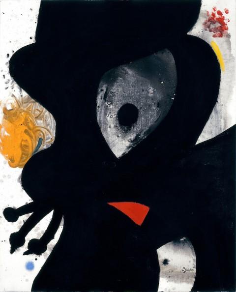 Joan Miró, Tête, 20 luglio 1976 - olio su tela, 100 x 81 cm - Collezione privata - © Joan Miró, by SIAE 2015