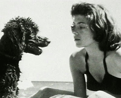 Joan Mitchell con il suo cane Georges