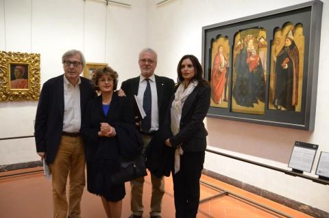 La presentazione del trittico di Antonello da Messina ricomposto, agli Uffizi