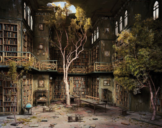 Lori Nix, Library, 2007, Brescia - Courtesy of Galleria Paci contemporary, Brescia