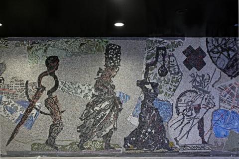 Metropolitana di Napoli, stazione Toledo - mosaici di William Kentridge
