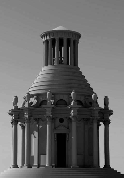 Nicola Verlato, Hostia, modellino mausoleo