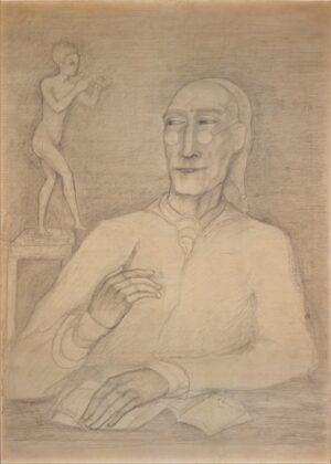 Pierre Klossowski, Ritratto di André Gide, 1955 - collezione privata - courtesy Electa