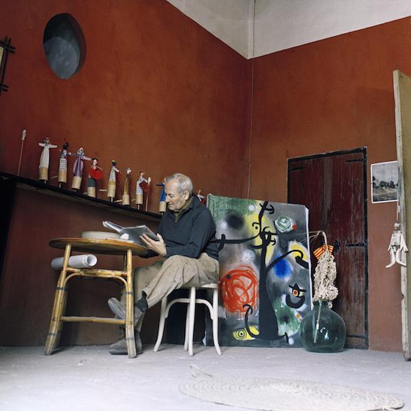 Planas Montaya, Miró all'interno dello studio Son Boter