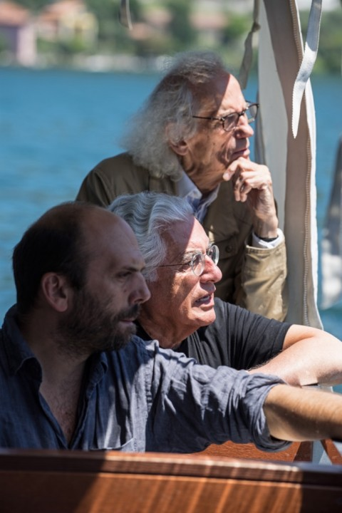 The Floating Piers - Christo (right) with Project Director Germano Celant (center) and Vladimir Yavachev (left)