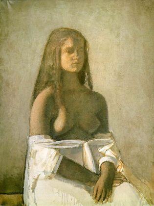 Balthus Jeune fille à la chemise blanche, 1955