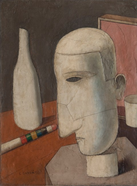 Carlo Carrà, Il gentiluomo ubriaco, 1916