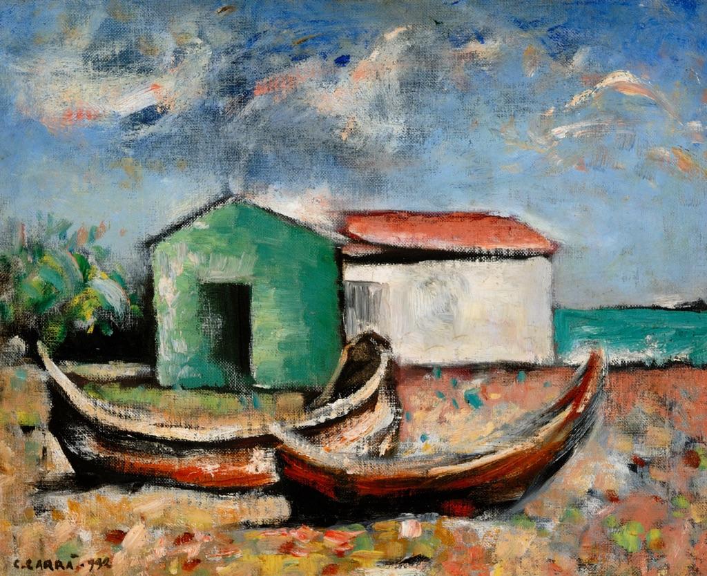 Carlo Carrà, Marina, 1932 - Parma, Fondazione Magnani Rocca © Fondazione Magnani Rocca