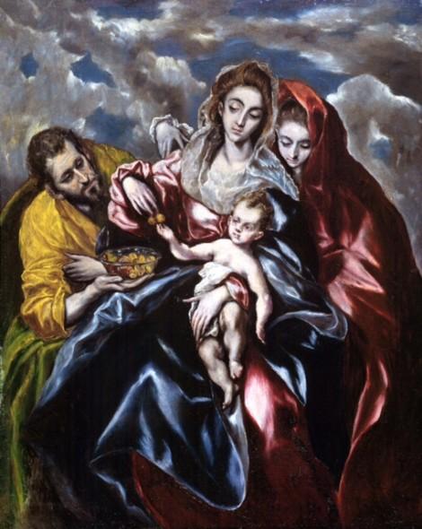 Domínikos Theotokópoulos detto El Greco, Santa Famiglia con la Maddalena - collezione privata
