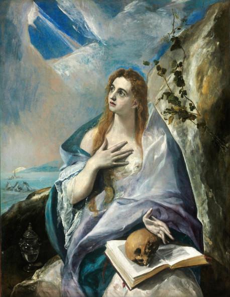 Domínikos Theotokópoulos detto El Greco, Santa Maddalena Penitente - Museo di Belle Arti, Budapest