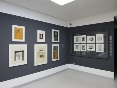 Eugenio Carmi – Appunti sul nostro tempo – veduta della mostra presso il Museo del Novecento, Milano 2015