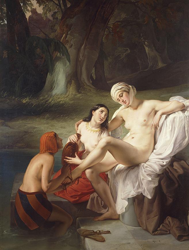 Francesco Hayez, Betsabea al bagno, 1834 - Collezione privata