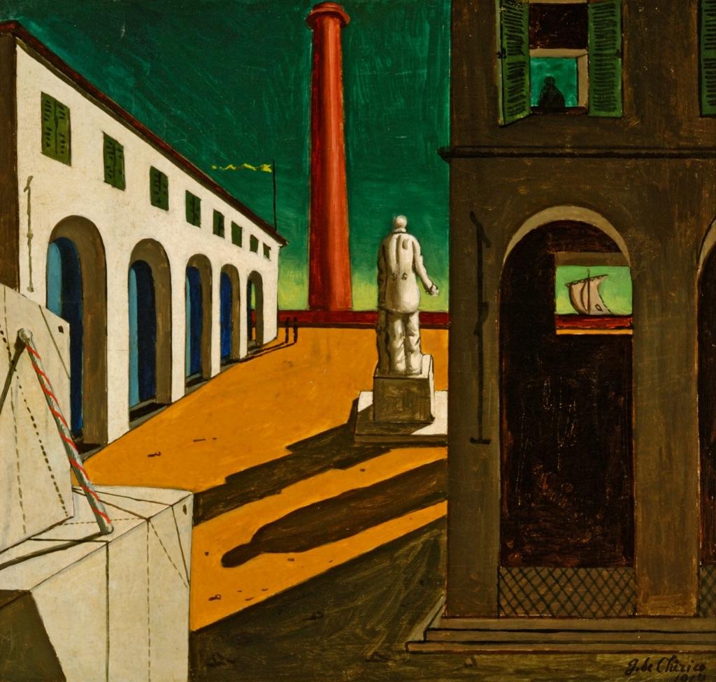 Giorgio de Chirico, Enigma della partenza, 1914 - Parma, Fondazione Magnani Rocca © Fondazione Magnani Rocca