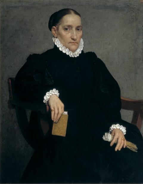 Giovan Battista Moroni, Ritratto di dama anziana in nero, 1572 ca. - Bergamo, Palazzo Moroni