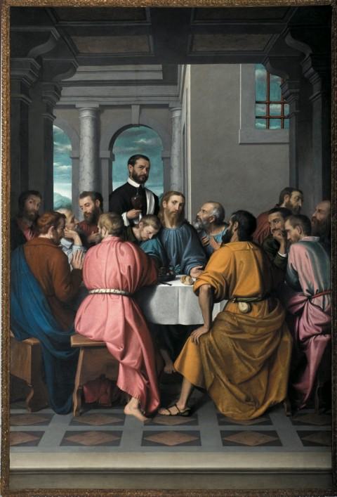 Giovan Battista Moroni, Ultima Cena, 1565-69 - Romano di Lombardia, Chiesa di Santa Maria Assunta e San Giacomo Apostolo