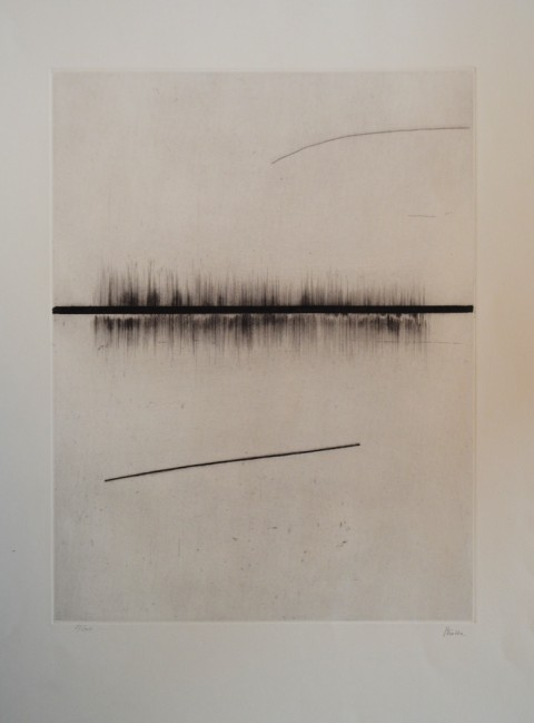 Guido Strazza, Orizzonti, incisione. Courtesy l'artista