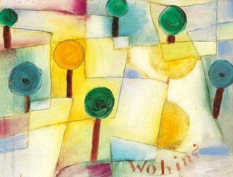 Paul Klee, Hoffmanneske Märchenscene [Scena fiabesca alla Hoffmann], 1921, litografia a colori, 31,6 x 22,9 cm