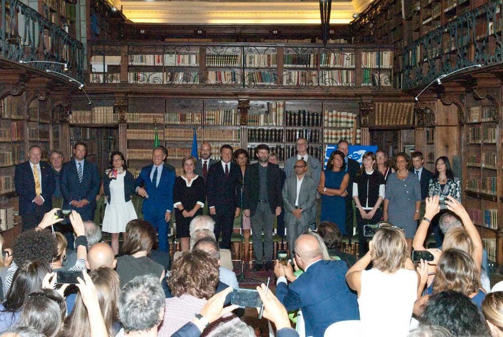 Il ministro Franceschini con i 20 direttori dei maggiori musei italiani - dicembre 2015