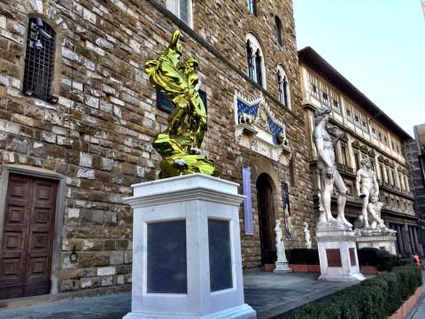 Jeff Koons, Pluto and Proserpina - Piazza della Signoria, Firenze 2015