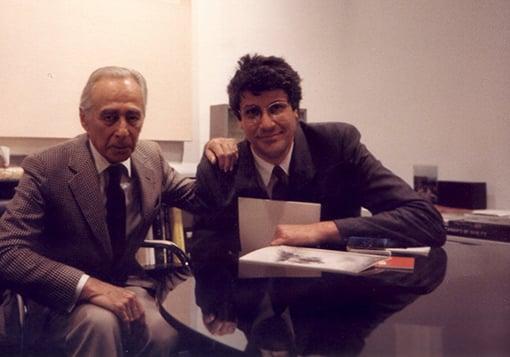 Leo Castelli e Pio Monti, 1986