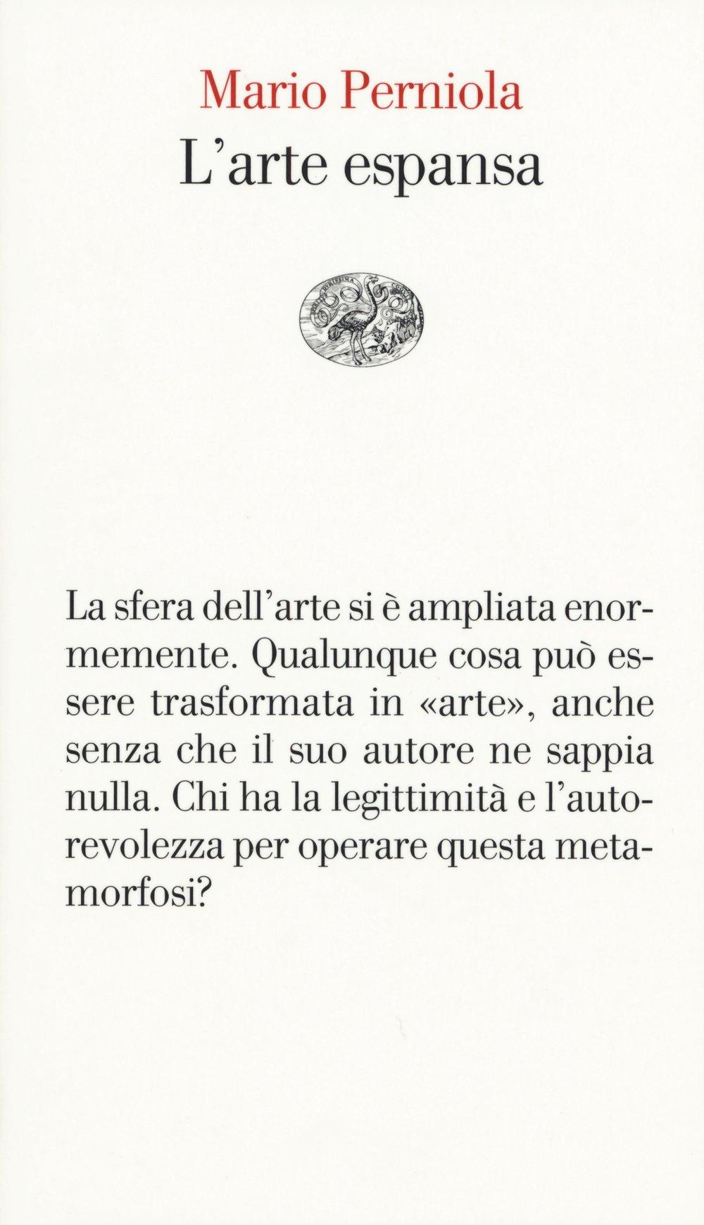 Mario Perniola – L'arte espansa - Einaudi