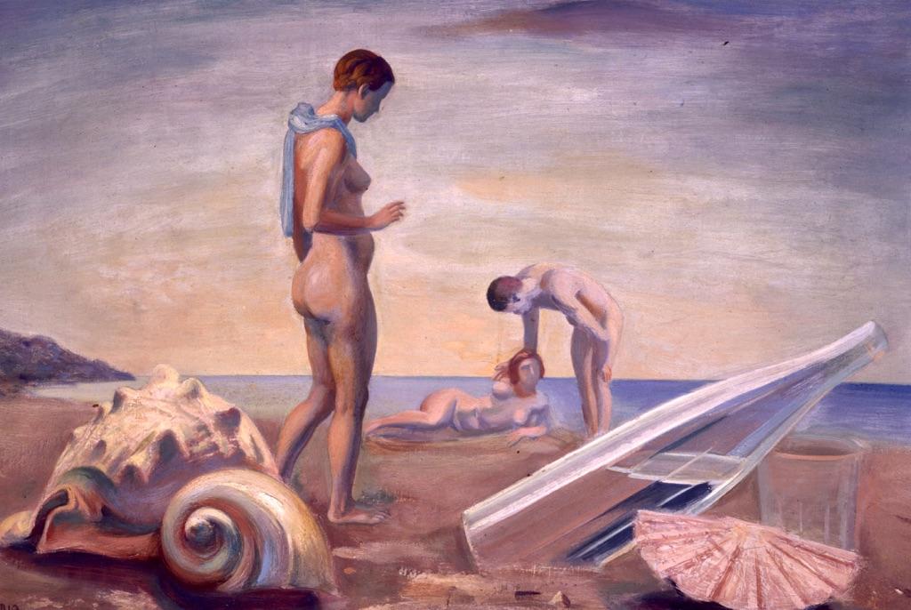 Mario Tozzi, In riva al mare, 1935 - Roma, Galleria d'Arte Moderna © Roma Capitale