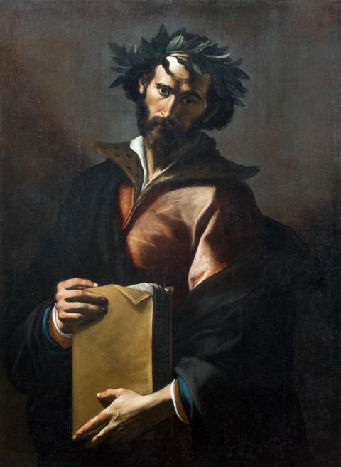 Mattia Preti, Pindaro - collezione privata, olio su tela, cm 127,5 x 95