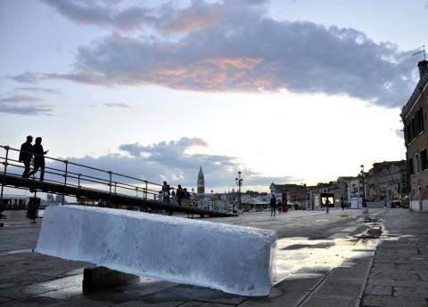 Stefano Cagol, The ice monolith, 2013 - courtesy l'artista
