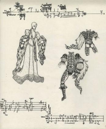 Sylvano Bussotti, Lorenzaccio - partitura autografa