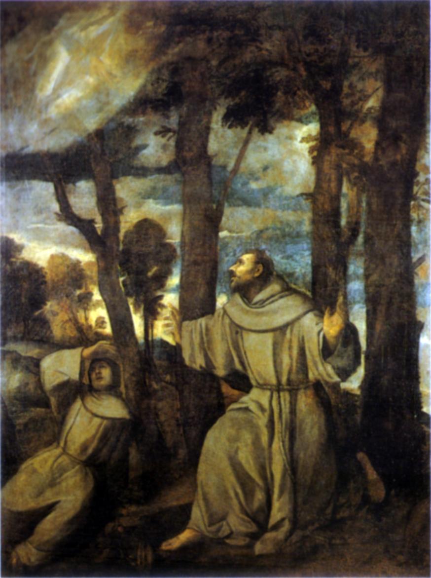 Tiziano Vecellio, San Francesco riceve le stimmate, 1525