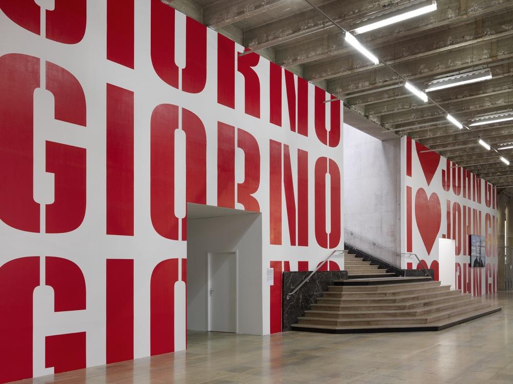 Ugo Rondinone - I love John Giorno - veduta della mostra presso il Palais de Tokyo, Parigi 2015 - photo André Morin - courtesy l'artista