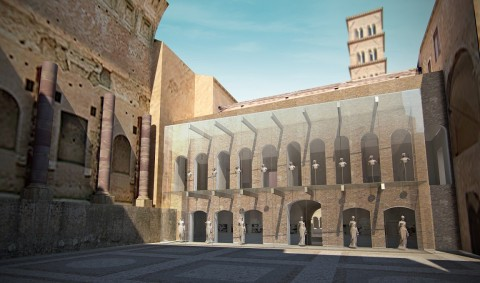 Antiquarium, concept project del nuovo museo del Foro a Roma a cura dello studio Mario Bellini Architects