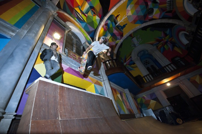 Okuda San Miguel, Kaos Temple, 2015. Photo courtesy Elchino Pomares