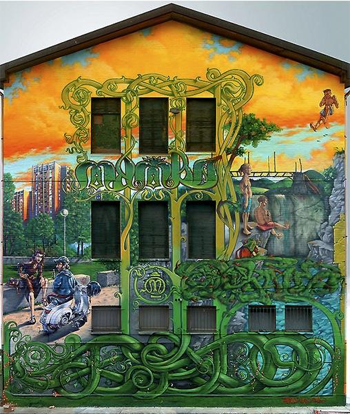 Dado, Draw, Mambo - via degli Ortolani, Bologna - 2002