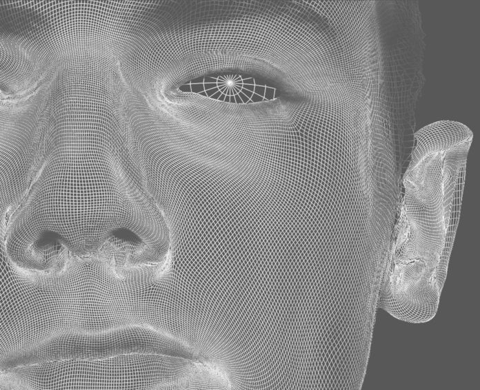 David O'Reilly, Self Portrait with close up wireframe - I feel like I did a good job of capturing my own soul with this, dal blog HyperRealCG