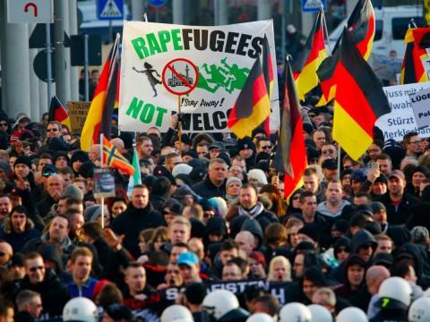 Manifestazione xenofoba in Germania