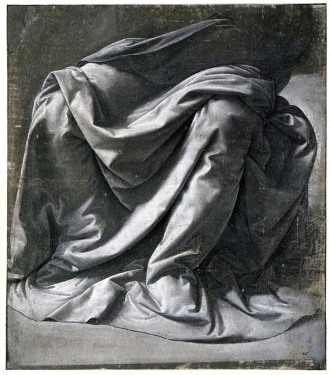 Leonardo da Vinci, Studio di panneggio di figura seduta - Parigi, Louvre
