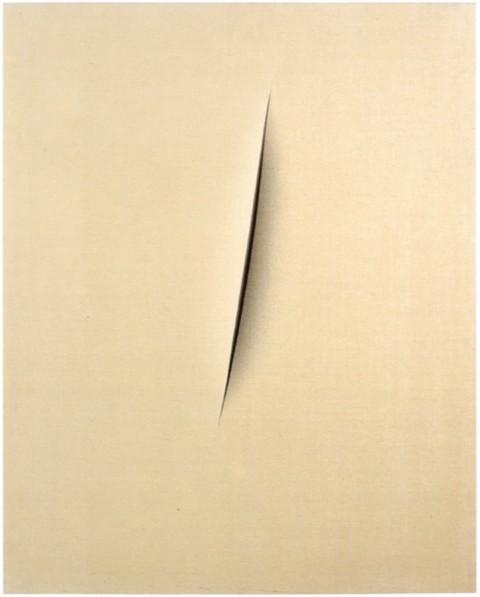 Lucio Fontana, Concetto spaziale. Attesa, 1960