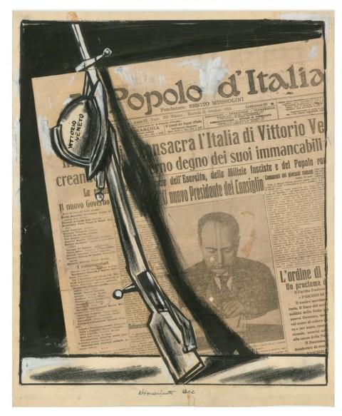 Mario Sironi, Abbonamento annuo L 75 - Popolo d'Italia