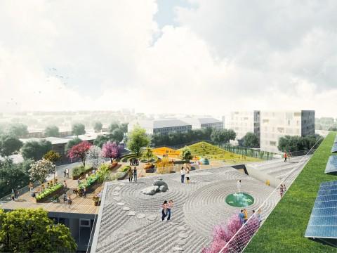 BIG Bjarke Ingels Group, progetto per la Wilson Secondary School di Arlington - Virginia. Credits: BIG