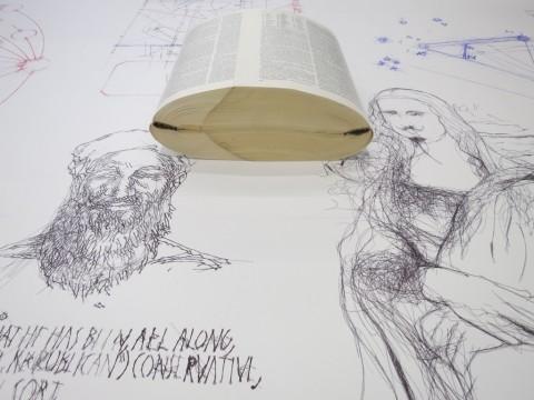 Goshka Macuga – To the Son of Man Who Ate the Scroll – installation view @ Fondazione Prada, Milano 2016