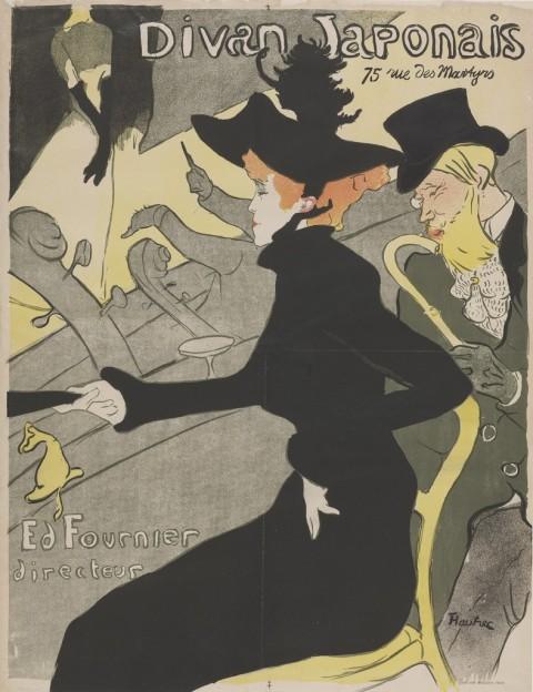 Henri de Toulouse-Lautrec, Divan Japonais, 1893 - Budapest, Galleria Nazionale